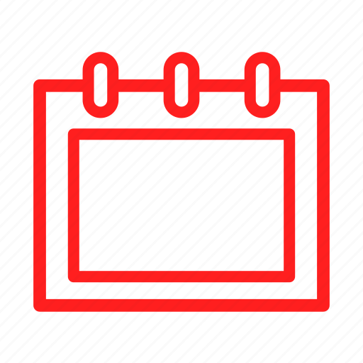 appointment, business, calendar, coming, daily, red icon