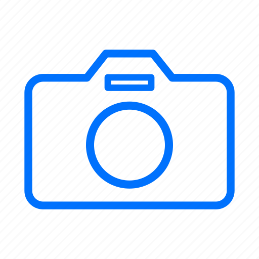 blue, camera, cameras, flash, image, images, lens icon