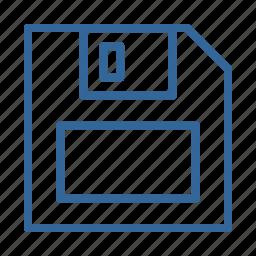 blue, disk, diskette, download, file, floppy, guardar icon