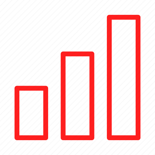 analytics, bar, business, chart, charts, diagram, red icon
