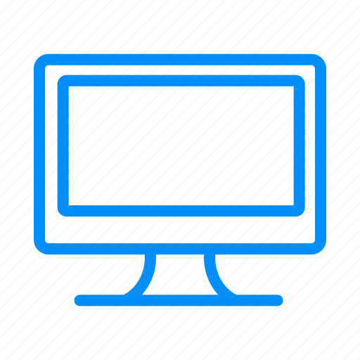 blue, computer, desktop, device, monitor, pc, screen icon