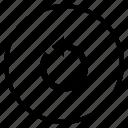 arrow, left, rotate icon
