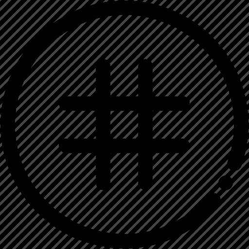 hashtag, interface, ui, user icon