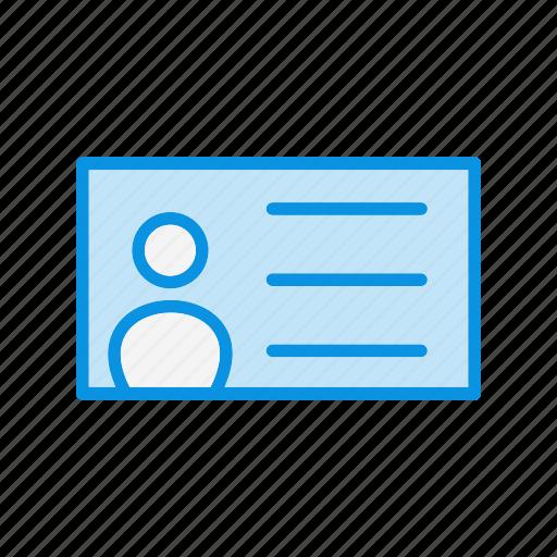 id card, idcard, profile icon