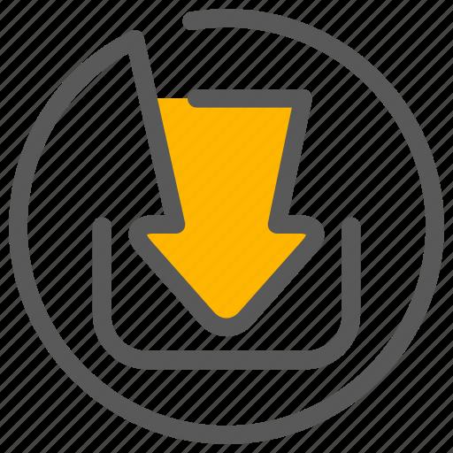downlink, download, uplink, upload icon