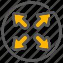 fullscreen, maximize, resize, zoom icon