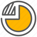 analysis, analytics, diagram, pie chart icon