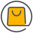 bag, basket, cart, shop icon