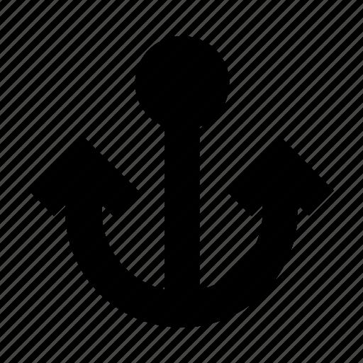 anchor, drop, fish, ocean, sea, ship, water icon