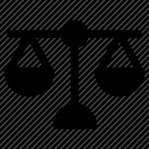 balance, judge, justice, law, police icon
