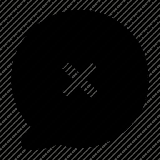 bubble, chat, close, communication, message, talk icon