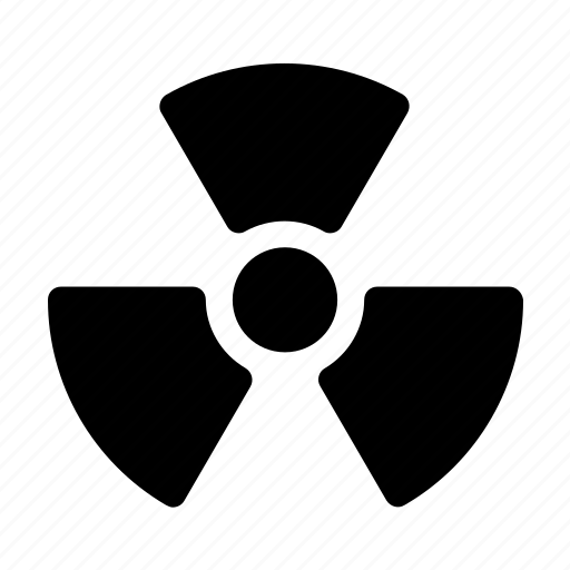 alert, caution, danger, nuclear, radiation, warning icon