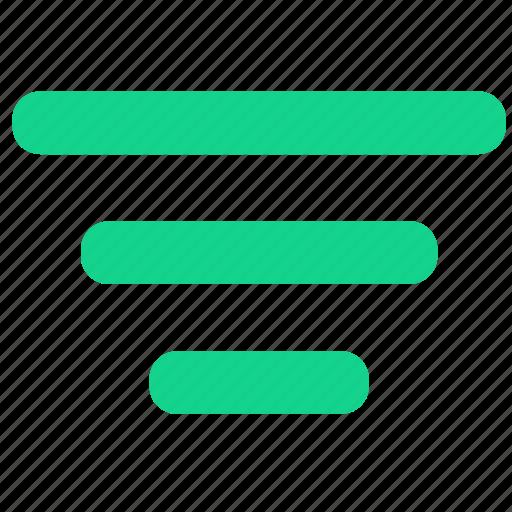 filter, filtering, funnel, sort, ui icon
