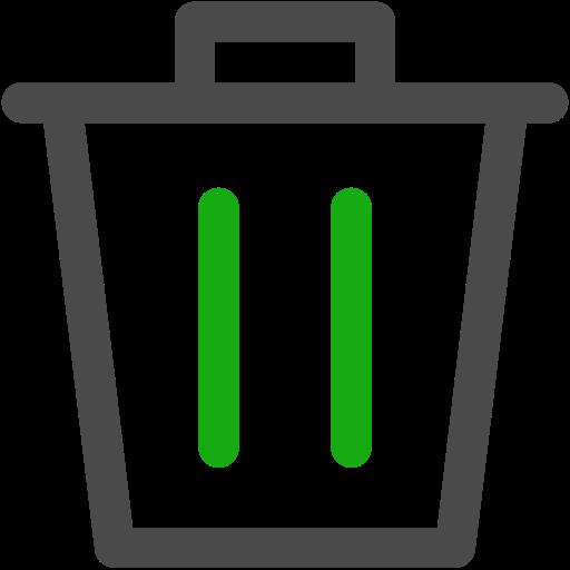 bin, garbage, trash icon
