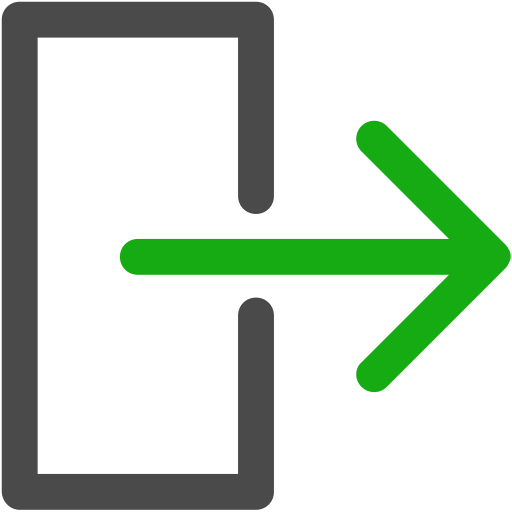 Exit, export, logout icon