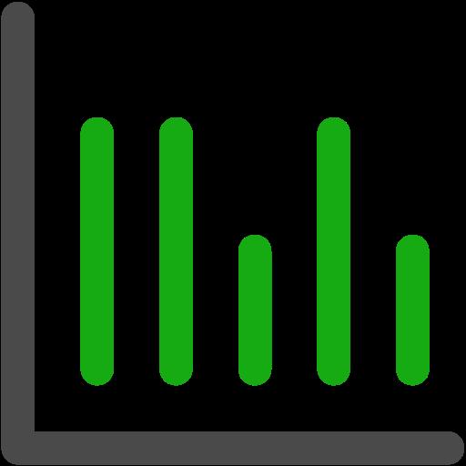 graph, stats icon