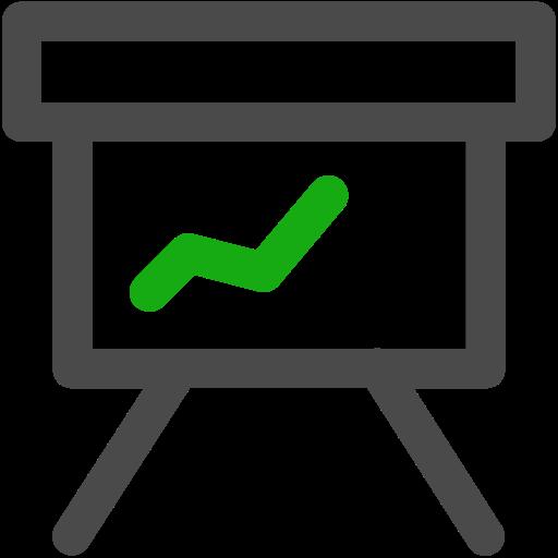 graph, presentation, stats icon