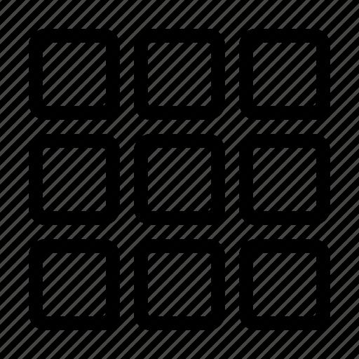 grid, shape, squares, web icon