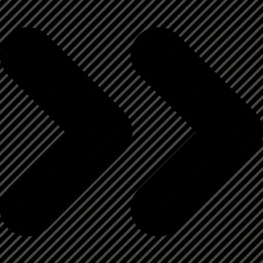 arrow, control, fast, forward, player icon