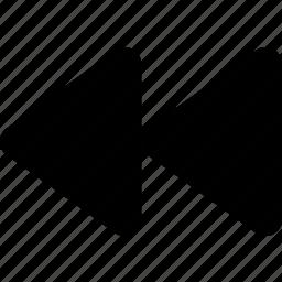 arrow, back, backward, control, music, previous, rewind icon