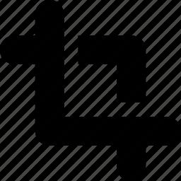 crop, cut, design, edit, graphic, tool icon