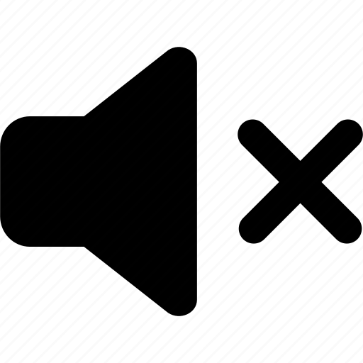 audio, music, mute, off, silent, sound, volume icon