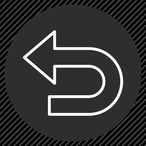 Direction, back, arrow, left icon