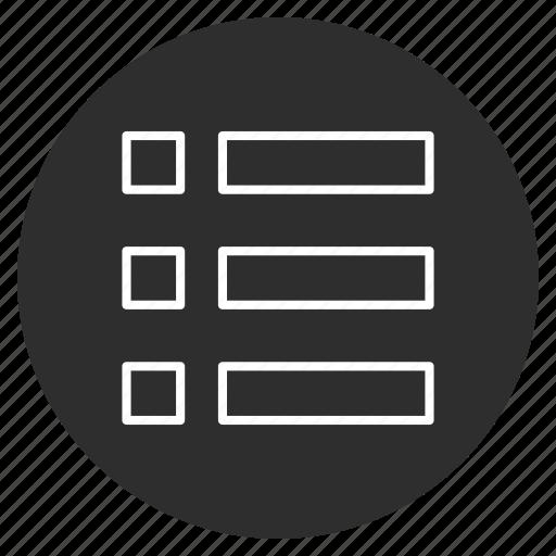 checklist, list, menu, options icon
