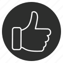 favorite, gesture, like, thumbs icon