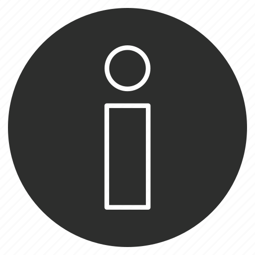 about, i, info, informatio icon