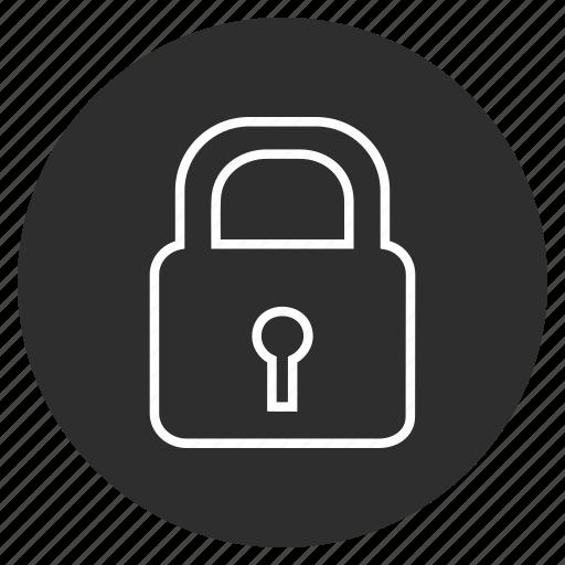 Locked, lock, password, security icon