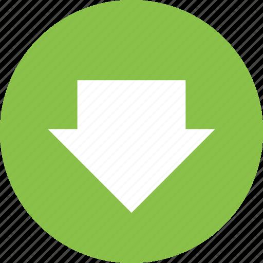 arrow, arrows, down, download, guardar, save icon