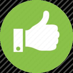 like, thumb, thumbs, up, vote icon