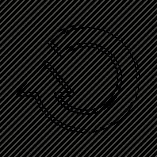 Circle, arrow, refresh icon