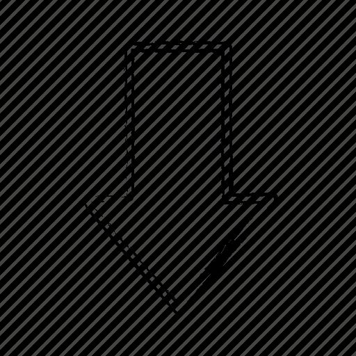 Down, direction, arrow icon