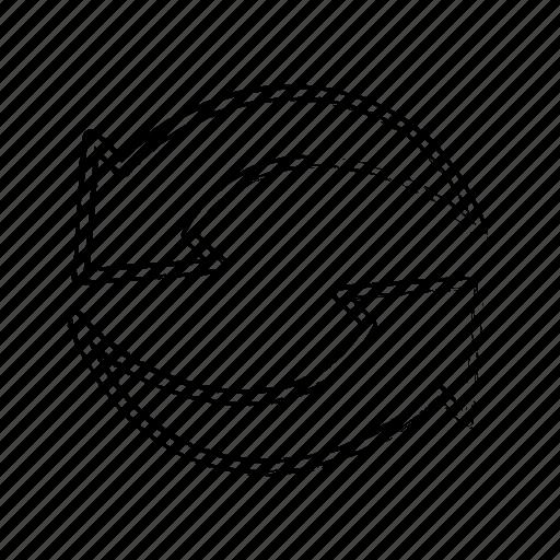 Direction, repeat, arrow icon