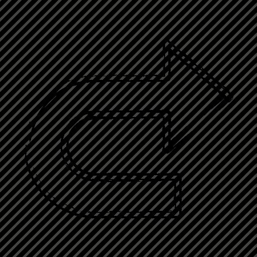 Go, direction, right, arrow icon