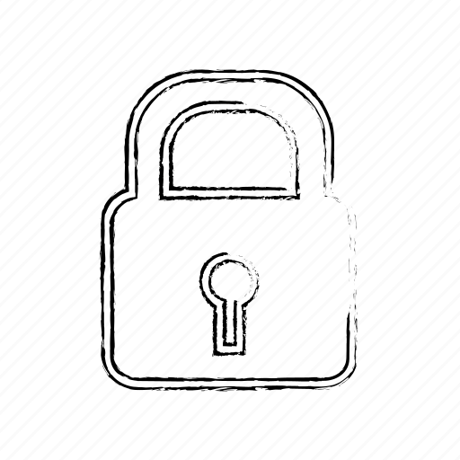 Locked, secure, lock, safe, private, key, password icon