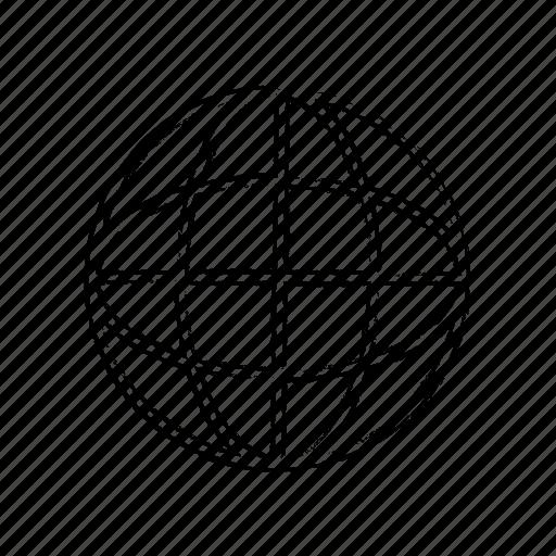 Logo, earth, line, world icon