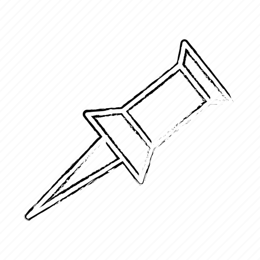 Line, pin icon