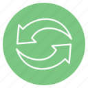 arrow, direction, repeat icon