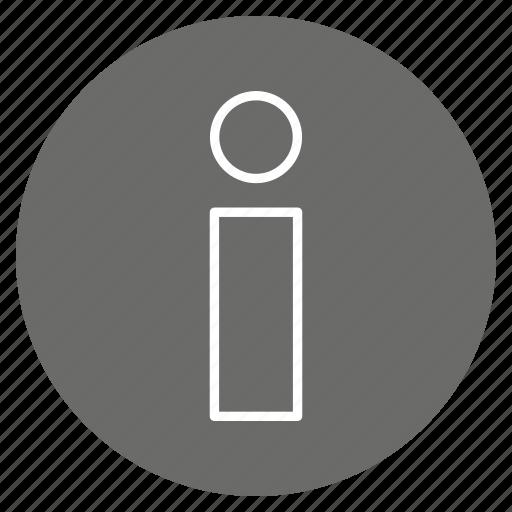 I, info, informatio icon