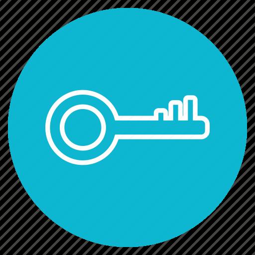 Lock, safe, key icon