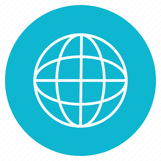 earth, line, logo, world icon
