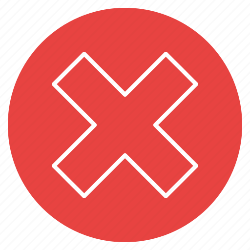 cross, stop, wrong icon