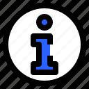 detail, faq, help, info, interface, user icon