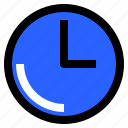 clock, interface, time, user, watch icon