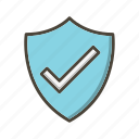 badge, basic ui, protection, shield, valid icon