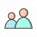 members, profile, user, users icon