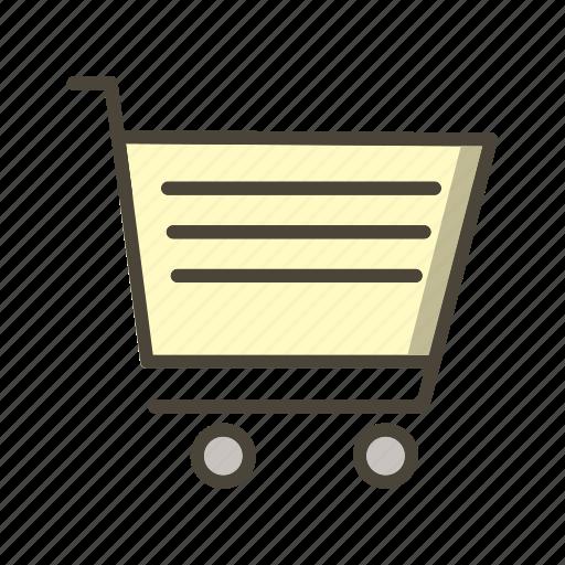 basic ui, cart, online shopping, shopping, trolley icon